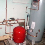 Work in progress - unvented hw system and boiler in public house