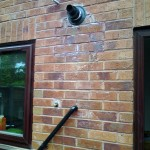Ideal logic flue and made good brickwork half bricks removed and replaced with whole bricks wherever possible