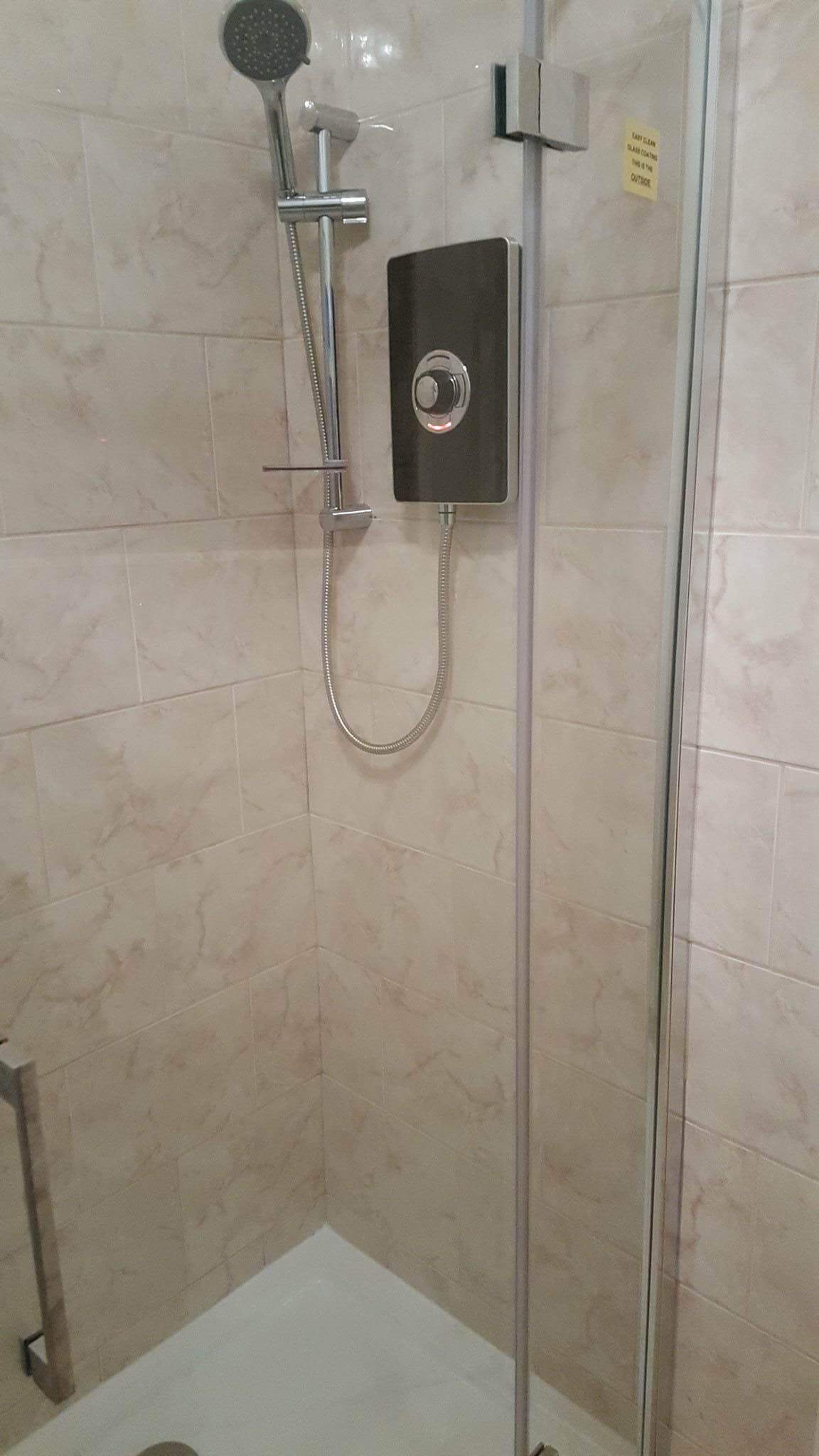 modern electric shower